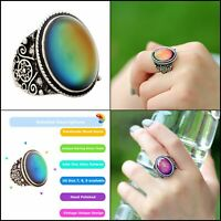 Classic 70s Design Magic Changing Color Mood Ring for Young Fashion Lady Unisex