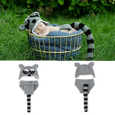 New Photography Props Hat Pants Fashion Newborn Baby Unisex Costume Knitted