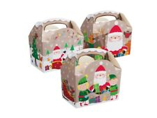 25 ~ Christmas Party Food Boxes ~ Childrens Xmas Meal Bag Plate Box