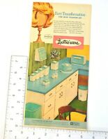 Lustro Ware Vintage Print Ad MCM Kitchen Canisters Borden Chemical Pantryware