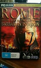 Rome Total War Barbarian Invasion Expansion BOXED VERSION PC GAME - FAST POST