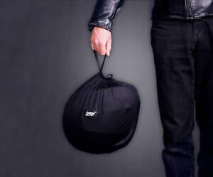 NOJ Black Helmet Bag - Lightweight, Compact. MADE IN THE USA.