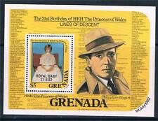 Granada 1982 nacimiento del príncipe Guillermo SG MS 1206 estampillada sin montar o nunca montada