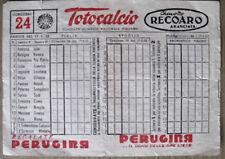 SCHEDINA Totocalcio partite del 17-02-1952   [AF-F4]