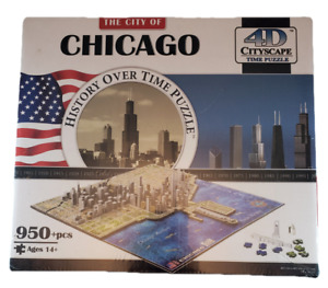 4D Cityscape Time Puzzle City of Chicago History Over Time 950+ pcs 40014 NEW!