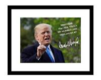 President Donald Trump 8x10 Signed Photo Autographed Customized