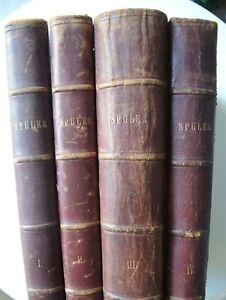 4 Bde. Spuler A.  SCHMETTERLINGE / RAUPEN Europas / Lithos - Stuttgart 1908/1910