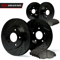 (Front + Rear) Rotors w/Metallic Pad Elite Brakes (2003 2004 2005 Mazda 6)