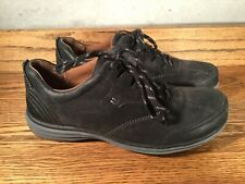 Cobb Hill Black Women's  Suede Shoes Sneakers Size 7.5 W Lace Up