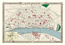 George Bradshaw'S CONTINENTAL Piano della città di Colonia 1896 - 1000 Pezzo Puzzle