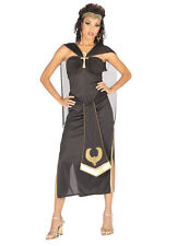 Ladies Black Queen Of The Nile Roman Egyptian Cleopatra Fancy Dress Size 10-12