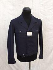 Deadstock Vtg French Work Jacket Indigo Chore Jacket Vtg 1940's MINT Size M/L