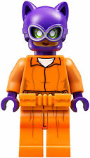 LEGO Batman Catwoman Minifigure w/ Arkham Asylum Prisoner Uniform (70912)