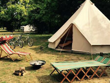 5M 4-Season Canvas Bell Tent Waterproof Camping Yurt Outdoor Tent Stove Jack