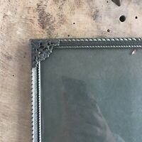 "12x9"" Frame Photo Picture Convex Glass Danish Brass Silver Gray Farmhouse Large"