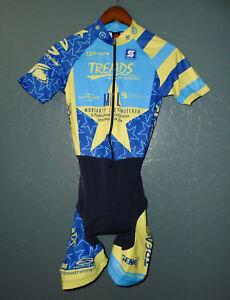 SQUADRA Cycling BIB Shorts PADDED Front Zip Bike Cycle Suit Womens NEW Small