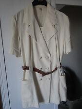 Kostüm Leinen beige/natur Blazer & Minirock Gr.M