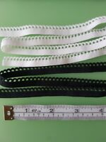 10m of 10mm WHITE Elastic Scalop Picot Edge Lingerie Underwear Edging Lace Light