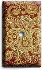 Damask Paisley Pattern Light Dimmer Cable Wall Plate Cover Living Room Bedroom