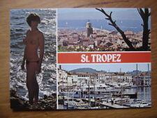 carte postale Postcard SAINT TROPEZ NATURISME FKK AKT nu artistique