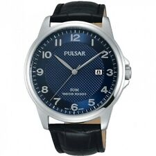 Pulsar Gents Leather Strap Watch - PS9443X1 PNP