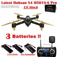 Hubsan X4 H501S S Pro Drone 5.8G FPV Brushless Quadcopter 1080P GPS RTF+3Battery