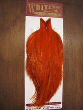Fly Tying-Whiting Farms Coq de Leon Rooster Cape Badger/Orange #B