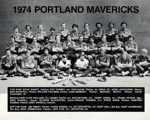 1974 PORTLAND MAVERICKS 8X10 TEAM PHOTO BASEBALL PICTURE PCL