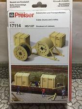 Preiser 17114 HO 1:87; Kabelrollen, Transportkisten , OVP