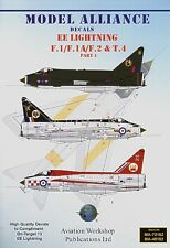 Model Alliance 1/72 BAC/EE Lightning F.1/f.1A/f.2 and bac/ee lightning T.Mk.4 Pa