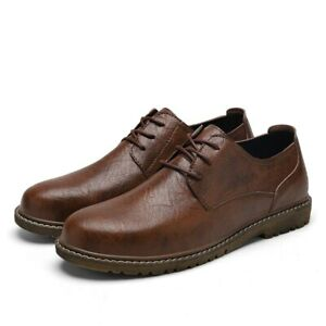 Men Leather Shoes Casual Shoes Leather Flats Shoes Male Business Oxford Shoes