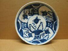 ESPAGNE ou ITALIE assiette en faience à décor bleu blanc XVIIIème siècle