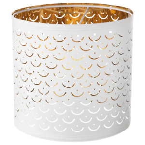 NYMÖ Lamp shade, white, brass-colour, 24 cm 103.772.00 BRAND IKEA