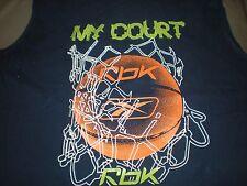 Boys Shirt Size Large Reebok Basketball 14/16 My Court Sleeveless Shirt Sports