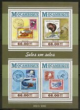 MOZAMBIQUE 2015 STAMP ON STAMP SHEET MINT NH