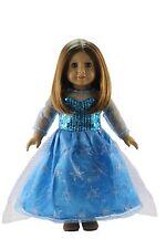 Doll Clothes Handmade Elsa's Blue Princess Dress FOR 18'' American Girl