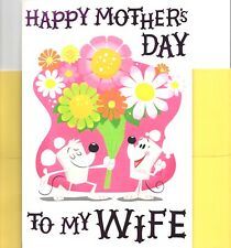 Happy Mother's Day Wife Mice Flowers Flower Bouquet Greeting Card By Hallmark