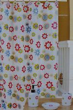 16 pc RT Designer Radiance Shower Curtain, Hooks, & Bath Accessories Set NIP