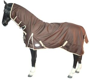 1200D Waterproof Horse Lightweight Turnout Rug Full Neck Combo Brown (NEXT DAY)