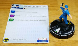 Major Glenn Talbot #102 LE Incredible Hulk Heroclix set with card