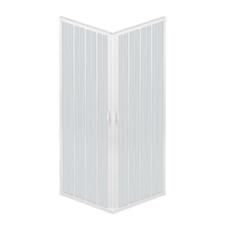 Box Doccia A Soffietto Liberte' 70x70 CM Angolare Riducibile Colore Bianco Paste