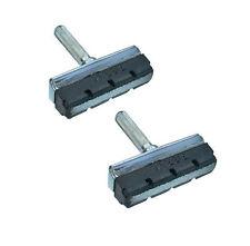 I blocchi del freno cantilever in pelle di fronte Pads Scarpe Acciaio Cerchioni 2 paia FIBRAX