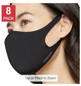 8-pack 32 Degrees Adults Face Cover UPF Sun Protection Quick Dry Washable
