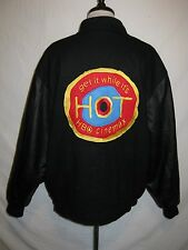 HBO WOOL AND LEATHER JACKET COAT SZ L