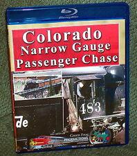 "20332 BLU-RAY HD TRAIN VIDEO ""COLORADO NARROW GAUGE PASSENGER CHASE"" RIO GRANDE"
