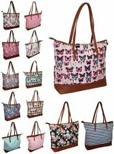 Tote Floral Handbags with Inner Pockets