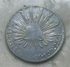 1832 Zs OM Mexico 8 Reales - Cap and Rays - Nice AU