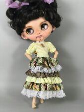 Blythe doll clothes dress ruffle skirt top