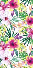 "30""x60"" Tropical Hibiscus Velour Beach Towel ""Made in Brazil"""