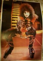 KISS VINTAGE 1977 77 ALIVE II PAUL STANLEY NOS AUCOIN MGT LIVE POSTER -NICE!